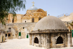 On the roof of the Church of the Holy Sepulchre Stock Photo