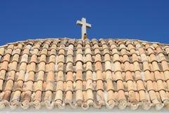 Roof of Church of Santo Domingo in Ibiza Stock Photo