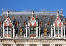 Roof of City Hall of Calais, France royalty free stock photos