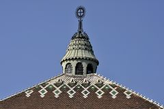 Roof of City Hall in Subotica. Vojvodina, Serbia Stock Images