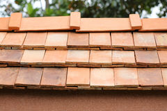 Roof clay tile Stock Image