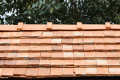 Roof clay tile on residential Royalty Free Stock Photo