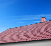 Roof with clay tiles Royalty Free Stock Photo