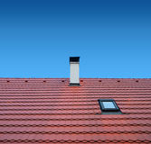 Roof with clay tiles Royalty Free Stock Image