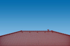 Roof with clay tiles Royalty Free Stock Photos