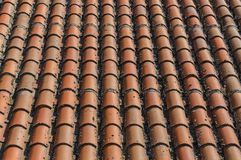 Roof clay tiles Stock Photo