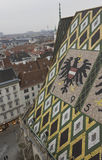 Roof close up of Stephansdom cathedral in Vienna Royalty Free Stock Photography