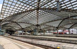 Roof of Cologne main station, Germany, North Rhine-Westphalia Royalty Free Stock Images