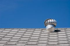 Roof of a commercial building Stock Photos