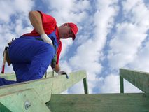 Roof construction Royalty Free Stock Image