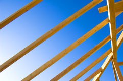 Roof construction. Picture of exposed Royalty Free Stock Photos