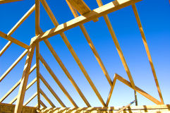 Roof construction. Picture of exposed Royalty Free Stock Photography