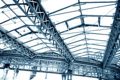 Roof construction. Picture of steel roof construction Stock Photos