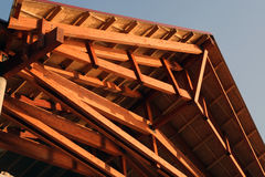 Roof construction Stock Images