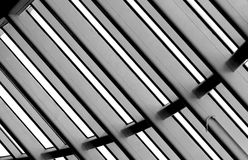 Roof construction. Detail of roof construction in black and white stock images