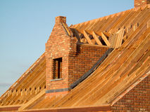 Roof construction. Showing wooden structure royalty free stock photography