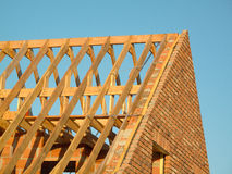 Roof construction. Showing wooden structure royalty free stock photo