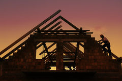 Roof construction Royalty Free Stock Photo