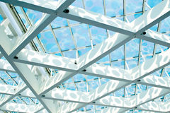 Roof construction with glass Stock Photo