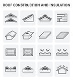 Roof construction icon Royalty Free Stock Photo
