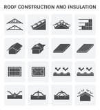 Roof construction icon Stock Images