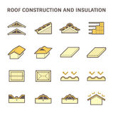 Roof construction icon Stock Photo