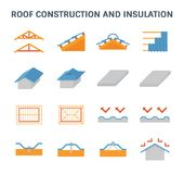 Roof construction icon Royalty Free Stock Photos