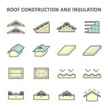 Roof construction icon Royalty Free Stock Image