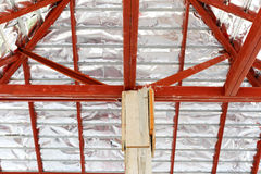 Roof construction for new house Stock Images