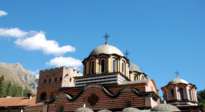 Roof construction from Rila Monastery, Bulgaria.  Stock Photography
