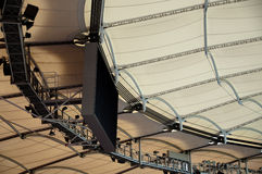 Roof construction of a soccer stadium Royalty Free Stock Photo