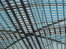 Roof construction of steel and glass Stock Photography