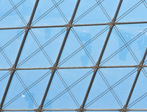 Roof construction of steel and glass Royalty Free Stock Photography