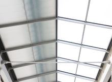 Roof of a contemporary building. Royalty Free Stock Images