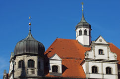 Roof with corner towers - architectural detail Royalty Free Stock Photography