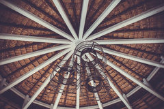 Roof cover is old , vintage style. Roof cover is old ,vintage style Royalty Free Stock Photo