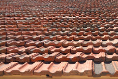 Roof covered with clay tiles Stock Photo