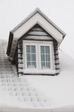 Roof covered in snow Royalty Free Stock Images