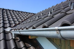 The roof covering with black Royalty Free Stock Photography
