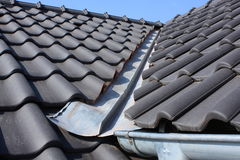 The roof covering with black Stock Image