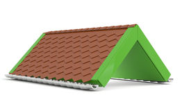 Roof. Creative green model Royalty Free Stock Photo
