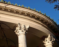Roof Cresting on Victorian Porch Stock Photo
