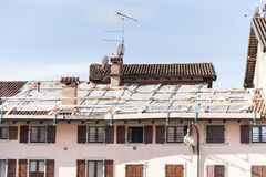 Roof damaged to repair. Royalty Free Stock Photos