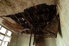 Roof damaged by water Stock Images