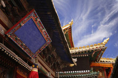 Roof decoration in a Buddhist Stock Photo