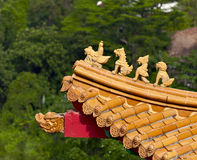 Roof decoration of chinese temple Royalty Free Stock Photos