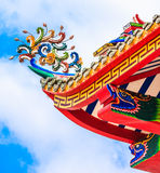Roof Decoration of Chinese temple. Art of Roof Decoration in Chinese temple, Thailand Royalty Free Stock Images