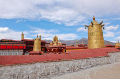 Roof decoration of Jokhang temple Stock Photo