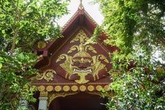 Roof decoration of Wat Khunaram Buddhist temple, Samui island. Thailand Royalty Free Stock Photo