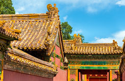 Roof decorations in the Forbidden City, Beijing Stock Image